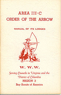 Area 3-C 1957 Manual of Lodges cover