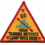 1968 Area 3-C Training Institute patch