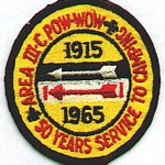 1965 Area 3-C Pow Wow patch